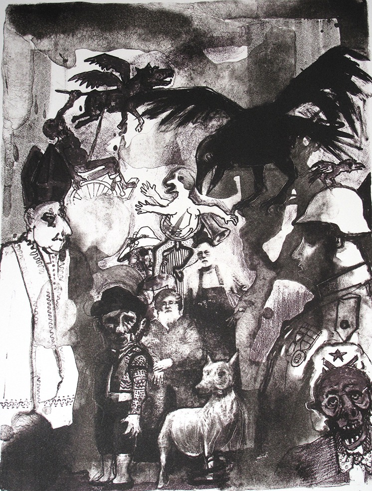 Hommage à M. Escobar (37 x 28 cm)