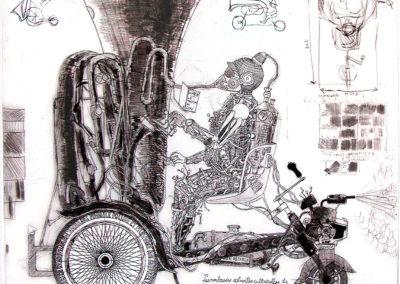 char de parade I ( 45x45 cm)