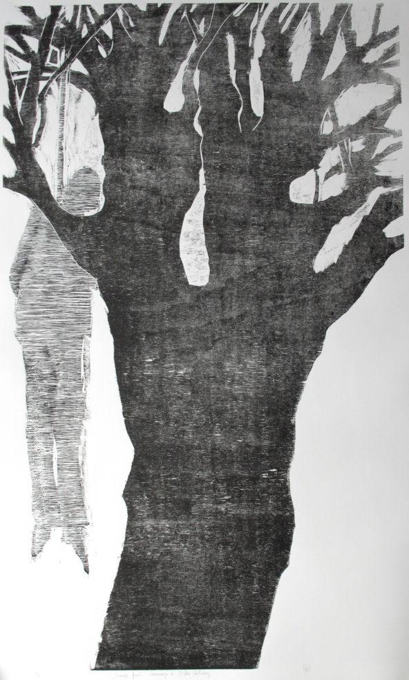 strange fruit hommage à B.H.(110x64 cm)