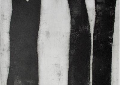 trois troncs (64x44 cm)