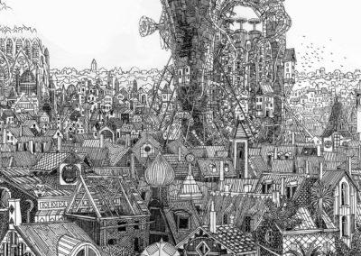 tuba dans la ville (détail), (40 x 60 cm)