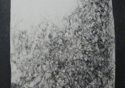 sucre pointe sèche aquatinte sur cuivre - 18,5- 26 cm