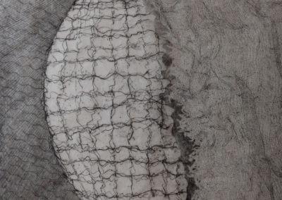 verni mou pointe sèche aquatinte sur cuivre - 25-25 cm