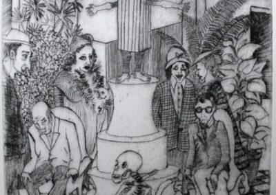 Au musée (24,7 x 22 cm)