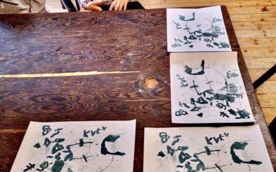 Visite des enfants du Labo, «Arts et Sciences» de la Vénerie.